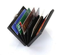 RFID Blocking Credit Card ID Holder Stainless Steel Slim Money Travel Wallet Men