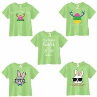 Easter T-shirt Bunny Rabbit Egg Hunting Season Jesus Shirt Kids Toddler Youth