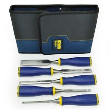 "IRWIN Marples 5 Piece MS500 Capped Wood Chisel Set 1/4""-1"" + Wallet MAR10503428"