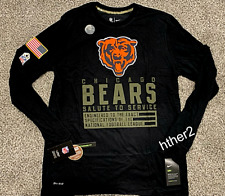 2020 Chicago Bears Nike Salute to Service Dri-Fit Long Sleeve Shirt All Sizes Ls