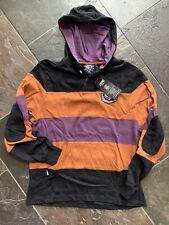 New Crooks and Castles Hooded Pullover Sweatshirt Buckingham sz M Medium Black