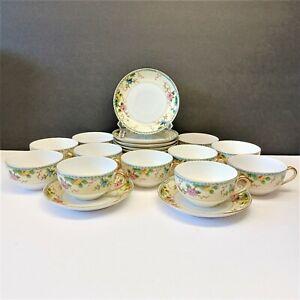Set/10 Noritake China Amerita Coffee Tea Cup & Saucer Sets Asian + free cup!