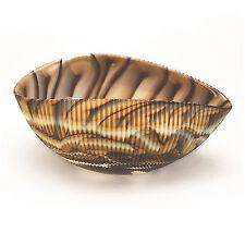 "Home Decor - Murano Glass Decorative Shell Bowl - Ivory/ Brown - 7"" x 4.5"""