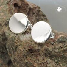 925 Sterlingsilber Damen Ohrstecker Ohrringe Stecker 8mm rund glänzend Silber