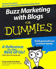 NEW Buzz Marketing with Blogs For Dummies by Susannah Gardner