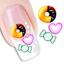 Nail Art Sticker Water Decals Transfer Stickers sweets and hearts (DX1201)
