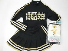 "Neu Bären Cheerleader Uniform Outfit Kostüm Kind 26 "" Top Elastisch Rock + Slip"