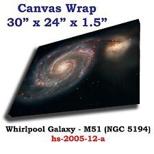 Whirlpool Galaxy  M51 NGC5194 Hubble JPL NASA space telescope Canvas art print