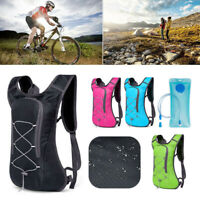 2L Hydration Backpack Rucksack Water Bladder Portable Bag Cycling Running Sports