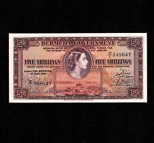 Bermuda 5 Shillings 1957 P-18b * Unc * Queen Elizabeth *