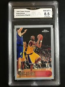 1996 Topps Chrome Reprints Kobe Bryant Rookie #138 GMA 8.5 NM-MT+ LAKERS HOF
