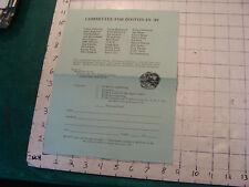 BOSTON IN 1989 hat hatter flyer, from 1985
