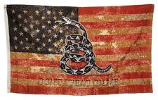 3'x5' USA Vintage Rustic Gadsden Don't Tread On Me Premium Quality 3x5 Flag