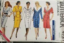 Vtg Butterick Classics pattern 4721 Misses' button front Dress sz 6, 8, 10 uncut