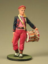 Painted Tin Toy Soldier Zouave Drummer 54mm 1/32 Miniature