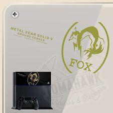 PEGATINA PS4 FOX EDITION METAL GEAR VINYL STICKER DECAL AUFKLEBER AUTOCOLLANT