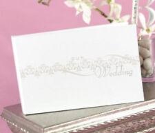 """New Hbh White and Silver Flourish """"Our Wedding"""" Mini Photo Album"""