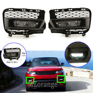 2X LED Fog Light Lamps w/ Cover Holder For Land Range Rover Sport L494 2013-2017