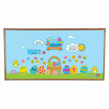 Religious Easter Egg Bulletin Board Set - Educational - 66 Pieces