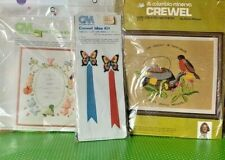 Vintage Columbia-Minerva Crewel Picture Kits New in Packages