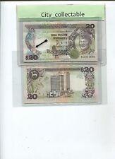 B122 # MALAYSIA 1986 $20 TG 9223888 NICE NOS. SGN BY D. JAFFAR * UNC