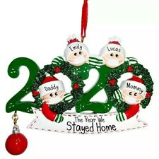 Personlised Writable 2020 Keepsake Christmas Ornament COVIDVirus Decoration Gift