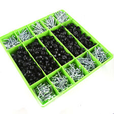 1000 ASSORTED CORRUGATED ROOFING SCREWS & BLACK STRAP CAPS FOR SHEET ROOFING KIT