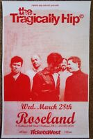 THE TRAGICALLY HIP 2007 Gig POSTER Portland Oregon Concert GORD DOWNIE