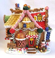 Lemax Sugar N Spice Gingerbread Cottage Porcelain Light Up House Original Box