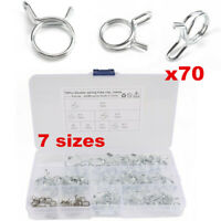70pcs Motorcycle Fuel Line Petrol Pipe Fuel Hose Clips/Clamps Spring Wire Type