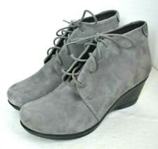 "DANSKO GRAY LEATHER SUEDE BOOTS SIZE 38 / 8  2.3/4"" HIGH HEELS"