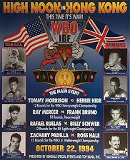 Vintage Original Tommy Morrison v Herbie Hide, Bruno, Mercer Boxing Fight Poster