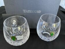 X2 Waterford Lismore Nouveau Light Red Stemless Wine Glass Set 12oz More