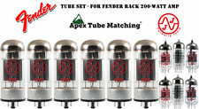 Tube Set - for Fender Rack 200-watt amp  amplifier vacuum valve tubes