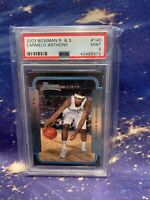 CARMELO ANTHONY 2003 Bowman R & S Rookie Card RC #140 | PSA 9 MINT!