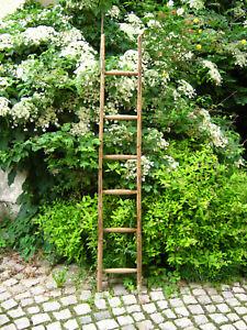 schöne alte Holzleiter_173,5 cm # Blumenampel/Ranke_Handtuchhalter_DEKO (Bl 2)