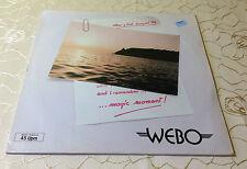 "Webo (12""maxi) ""magic moment"" [GER Metronome 821 628-1"" Italo-discoteca""]"