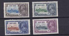 HONG KONG    1935  S G 133 - 136  SILVER JUBILEE SET    MH   CAT £65