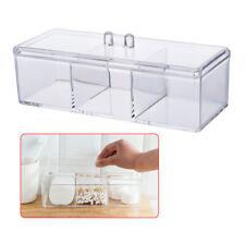 Acrylic Brush Holder 3-Slot Cosmetic Organizer Makeup Case Storage Box Stand