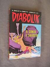 DIABOLIK ORIGINALE ANNO XXI n°  1 - 1982 - RARO - OTTIMO