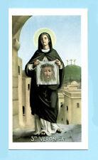 SANTINO S.VERONICA IMAGE PIEUSE - HOLY CARD SANTINI