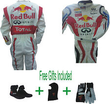 Go Kart Race Suit CIK/FIA Level 2  White (Free gifts Included)