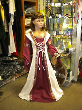 Mittelalter Kinderkleid Kinder Mittelalterkleid Kleid Kostüm Gewand rot natur