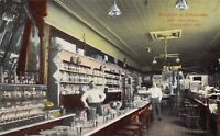 Postcard Interior Drug Store Busjahan & Schneider in Logansport, Indiana~126201