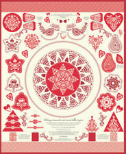 North Woods by Kate Spain - Christmas Table Topper and Ornaments - Moda Fabrics