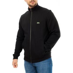 LACOSTE Mens Full Zip Sweat Jacket (Black)