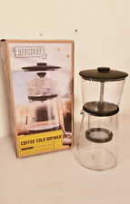 Refinery and Co. Glass & Silicone COFFEE COLD BREWER Slow-Drip, PreOwned