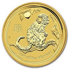 2016 1/20 oz Gold Lunar Year of the Monkey BU - SKU #92755