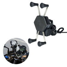 USB Charger Mobile Phone GPS Holder Bracket Mount For Motorcycle Racing Scooters