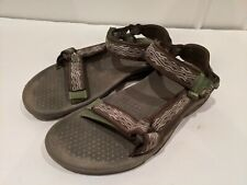 Teva Sandals S/N 6502 Size 10 Green Grey hiking fishing river gear